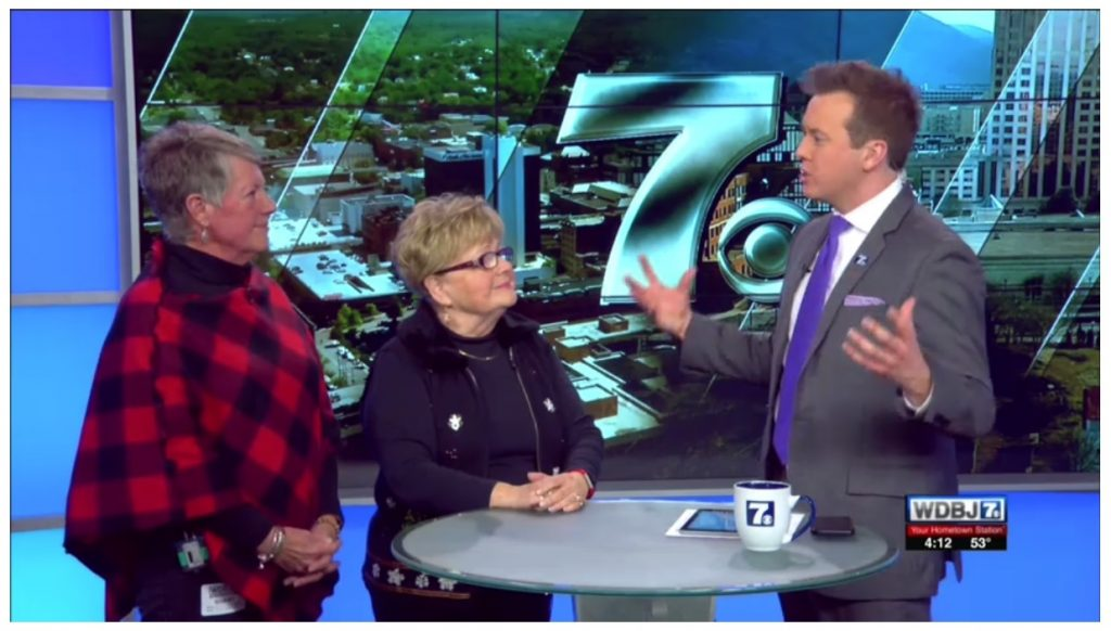 HFI's own Marcia Neighbors and Lynne Bolton were interviewed by WDBJ7's Logan Sherrill on December 5. Learn more about the Holiday Home Tour & Marketplace by watching the video. Click on the photo to open a new window. You may close the window when finished.