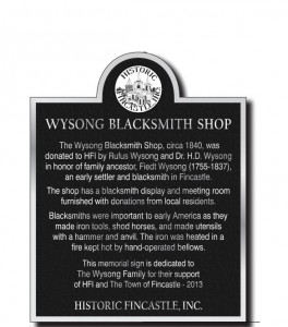 Wysong Plaque
